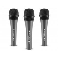 Sennheiser E835 Cardioid Dynamic Reduced Proximity Microphone (3 Pack)