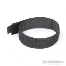 Silverline Hook & Loop Cable Ties 10pk 30cm Black