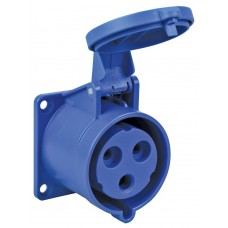 Lewden 32A Blue Chassis Socket