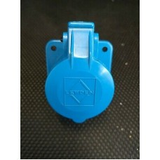 Lewden 16A Blue Chassis Socket