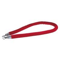 Showtec Velvet Rope Silver Hook - Red