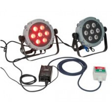 Showtec Traffic Light Set - Double Light Stand Package