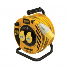 Defender Cable Reel 25m 2 Way 110V 16A