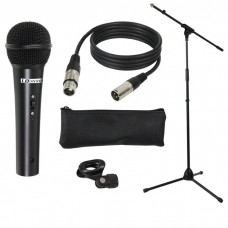 LD Systems MIC SET 1 Microphone Set with Microphone, Stand, Cable and Clamp