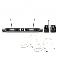 LD Systems U506 UK BPHH 2 Wireless Microphone System with 2 x Bodypack and 2 x Headset