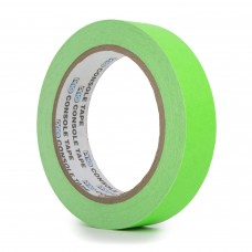 Le Mark Fluorescent Console Tape - 24mm x 25m - Green