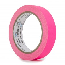Le Mark Fluorescent Console Tape - 24mm x 25m - Pink