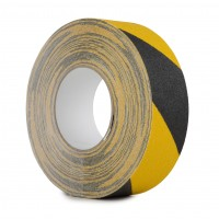 Le Mark Anti Slip Hazard Tape Heavy Duty 50mm x 18.3m Roll - Black / Yellow