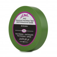 Le Mark PVC Electrical Insulation Tape 19mm - Green - Pack of 8