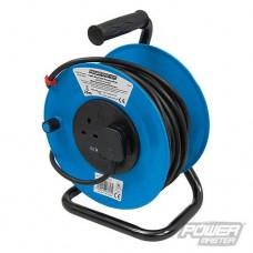 Power Master Cable Reel 240V Freestanding - 13A 25m 2 Socket