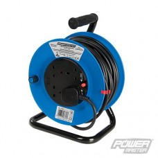 Power Master Cable Reel 240V Freestanding - 13A 25m 4 Socket