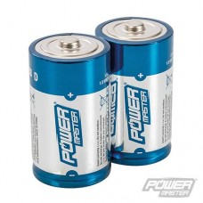 Power Master D-Type Super Alkaline Battery LR20 2pk